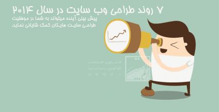 7 روند طراحی وب سایت که در سال 2014 خواهید دید